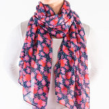 Printed Village Scarf -Daisy Rose