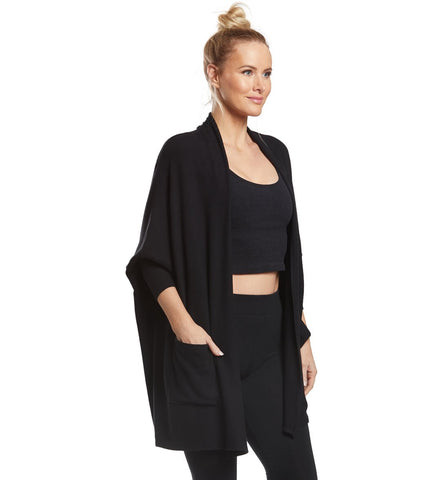 Brushed up origami cardigan in black