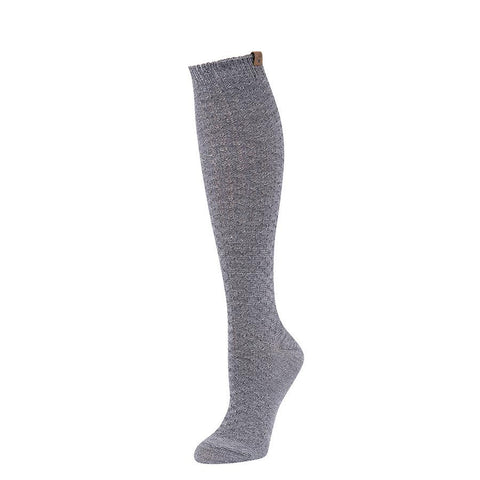 Knee high socks in grey