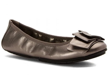 Lilyana Pewter Leather Ballet Flats