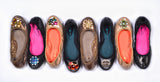 Tracey black interchangeable ballet flats