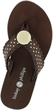 Lulu brown flip flops