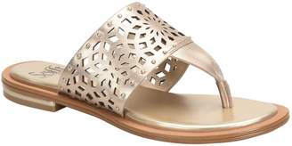 Mayela metallic perf thong sandals in gold