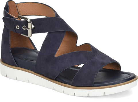 Mirabelle suede sandals in midnight navy