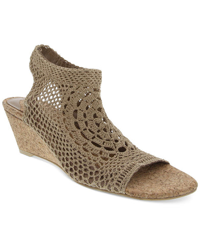 Navaeh natural hand crocheted elastic wedges