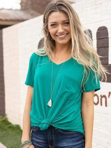 Perfect pocket tee in maui green