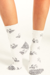 Paw plush socks