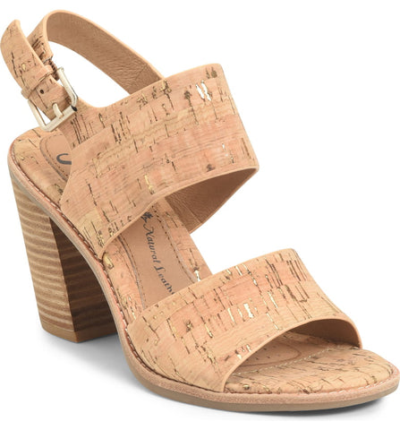 Pierz block heel sandals in cork