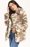 Pippa camo coat in bone