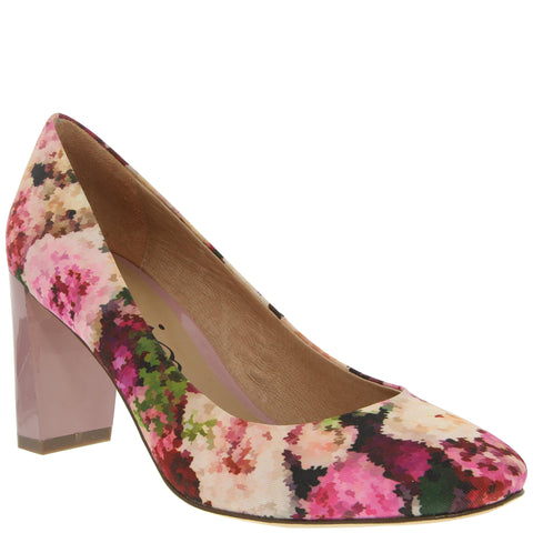 Poetry floral print round toe pumps