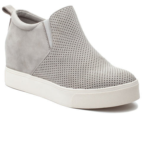 Sallie hidden wedge sneakers in light grey