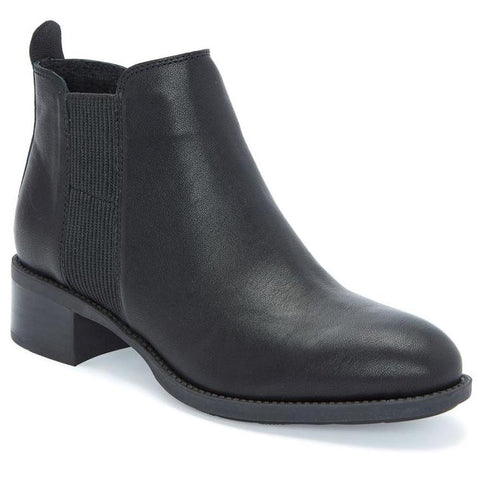 Shane black leather ankle booties