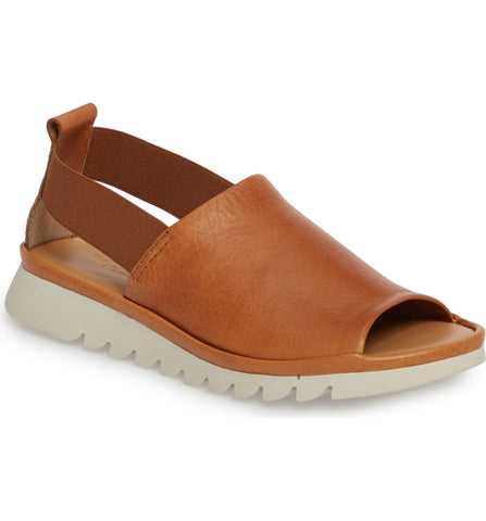 Shore line leather platform sandals