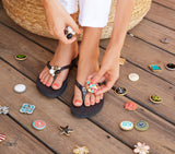 Savanna pewter flip flops