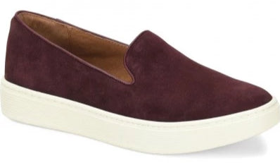 Somers cordovan moroon slip-on sneakers