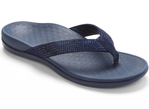 Tide navy rhinestone sandals