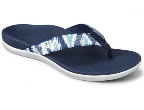Tide Navy/White Sequin sandals