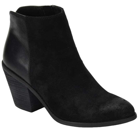 Tilton two tone booties in black