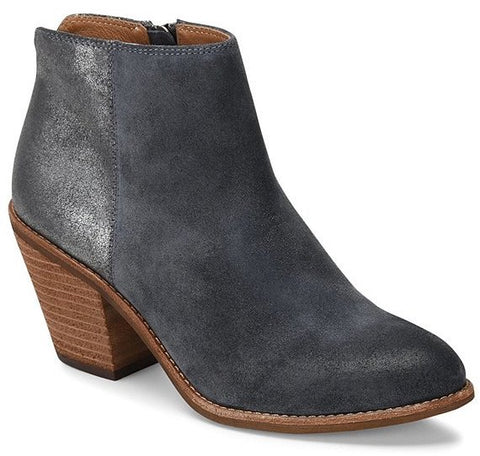 Tilton two tone booties in denim anthracite