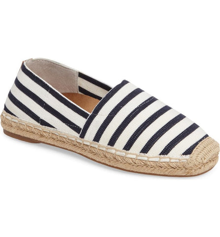Valeri espadrille in navy stripe