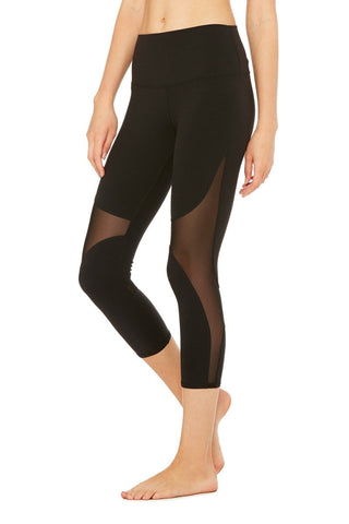 High waisted coast capris in black