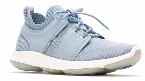 World knit sneaker in dusty blue