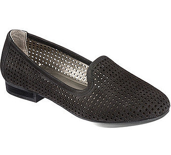 Yale Black laser cut loafers
