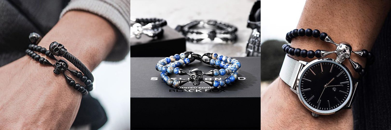 SpiderHD Skull Bracelets by SkeletonHD