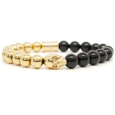 THE SKELETONHD ACE GOLD SKULL BRACELET