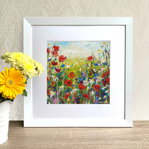 Framed Print - Poppies and Daisies