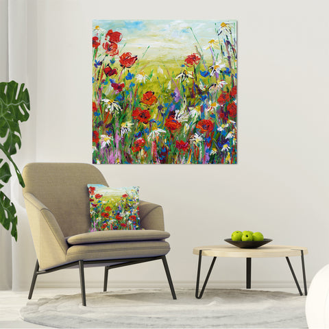 Canvas Print of 'Poppies and Daisies'