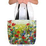 Tote Bag - Poppies and Daisies
