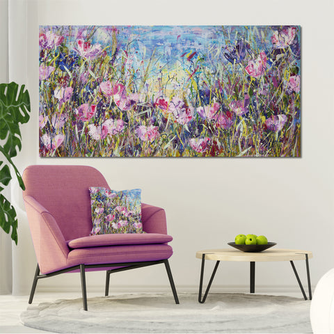 Canvas Print of 'Pink Meadow'
