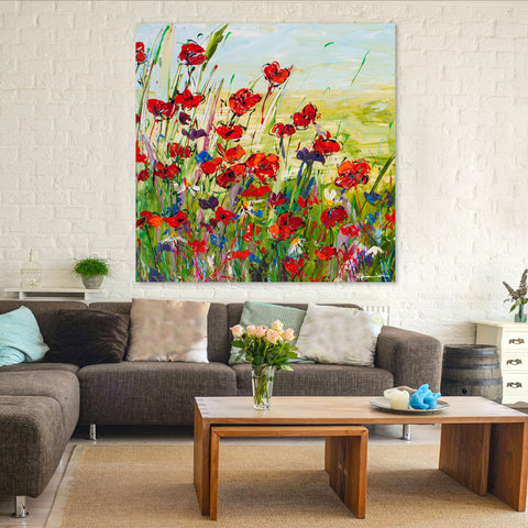 Canvas Print of 'Poppy Dream' (Square)
