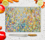 Glass Chopping Board of 'Spring Day'
