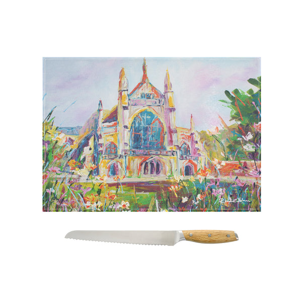 Glass Chopping Board of 'Winchester Cathedral'