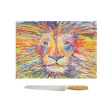 Glass Chopping Board of 'Lion'