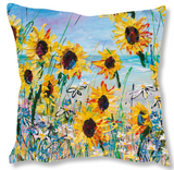 Faux Suede Art Cushion - You Are My Sunshine