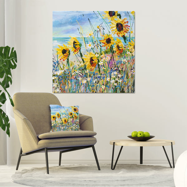 Canvas Print of 'You Are My Sunshine' Square