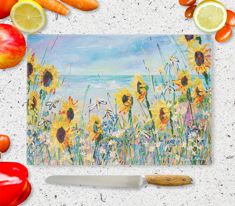 Glass Chopping Board of 'You Are My Sunshine'