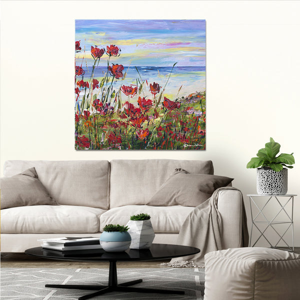 Canvas Print of 'Lest We Forget' (square)