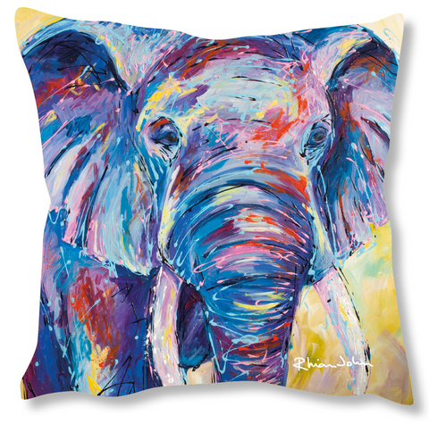 Faux Suede Art Cushion - Nellie Ellie Elephant