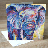 'Nellie Ellie' Elephant blank greetings card