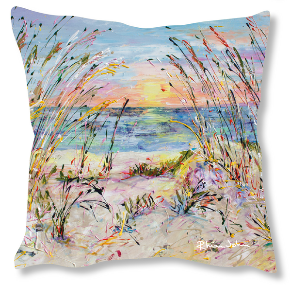 Faux Suede Art Cushion - Beach Love