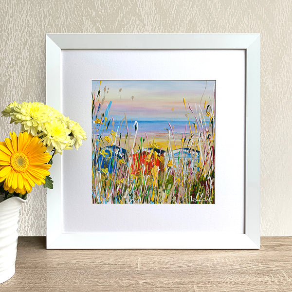 Framed Print - Beach Huts