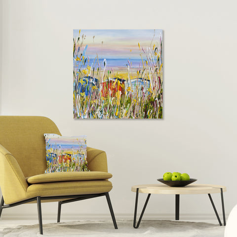 Canvas Print of Beach Huts