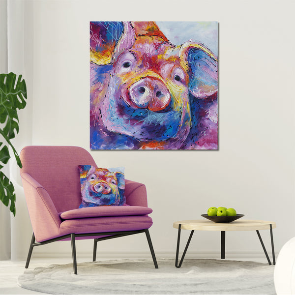 Canvas Print of 'Truffles' Pig