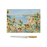 Glass Chopping Board of 'Cliff View'