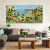 Canvas Print of 'Cliff View'