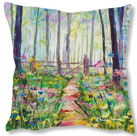 Faux Suede Art Cushion - Glade